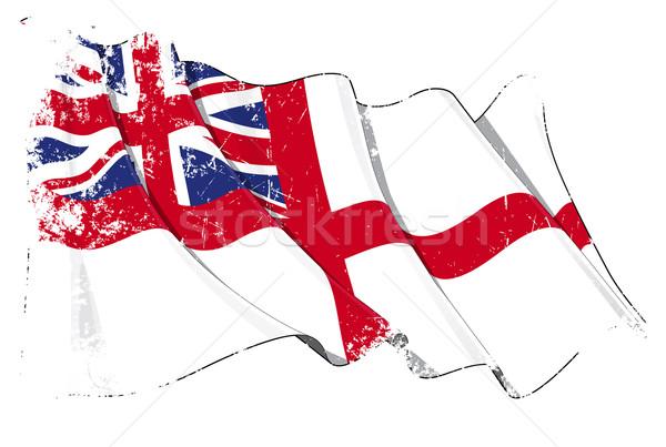 British Naval Ensign (Flag) Grunge Stock photo © nazlisart
