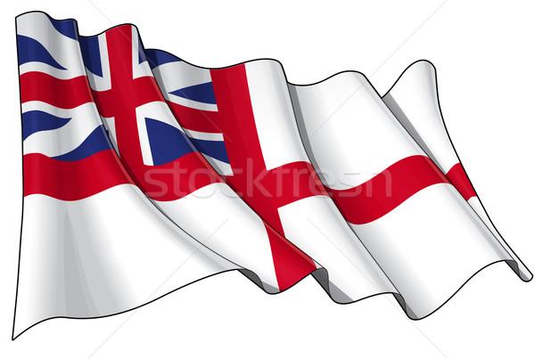 British Navy Flag 1606–1801 (The King's Colours) Stock photo © nazlisart