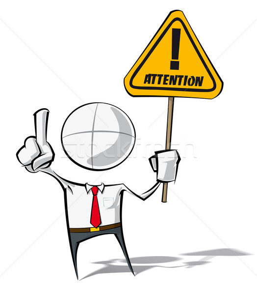 Simple Business People - Attention Stock photo © nazlisart