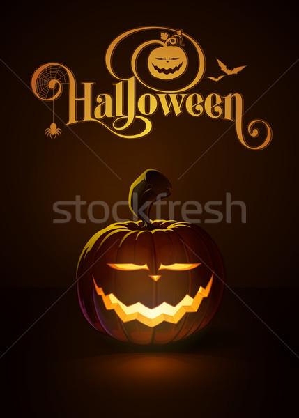 Jack-o-Lantern Dark Saber Smile Stock photo © nazlisart
