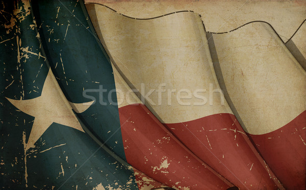 Texan Flag Old Paper