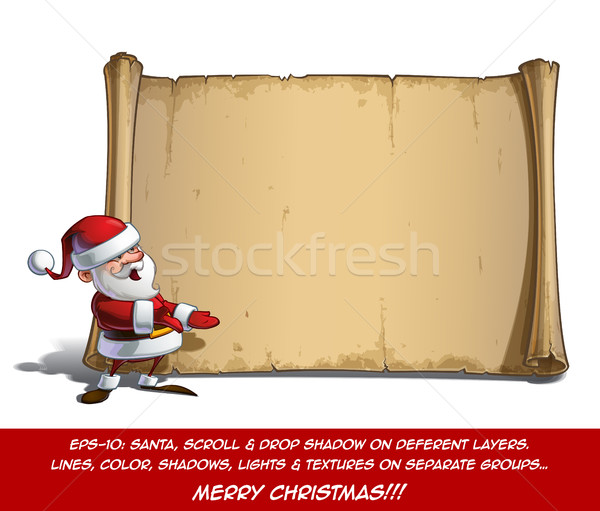 Happy Santa Scroll - Presenting Stock photo © nazlisart