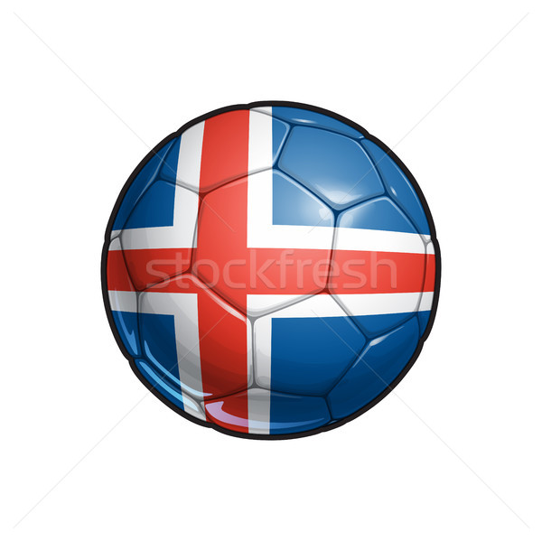 Icelandic Flag Football - Soccer Ball Stock photo © nazlisart