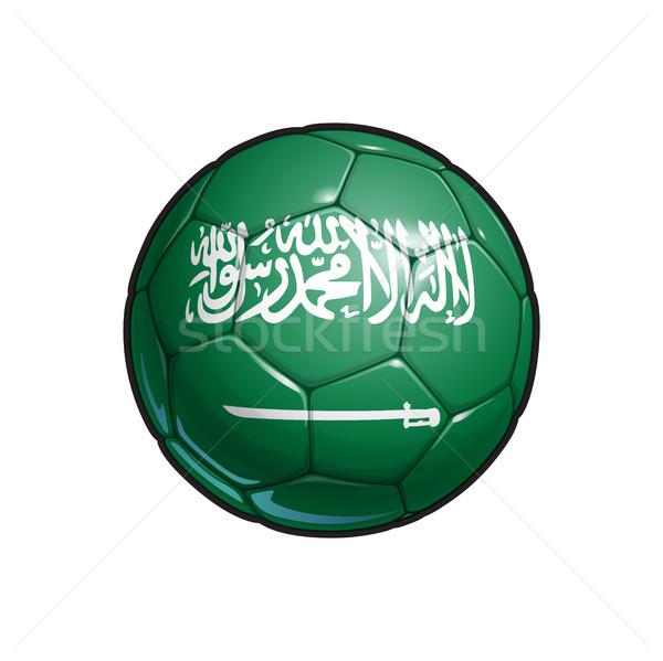 Szaúdi arab zászló futball futballabda színek Stock fotó © nazlisart