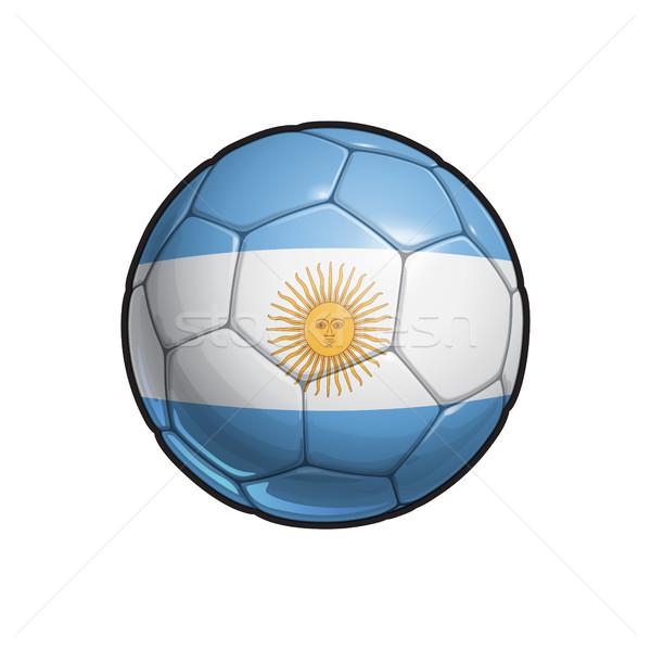 Argentinian Flag Football - Soccer Ball Stock photo © nazlisart