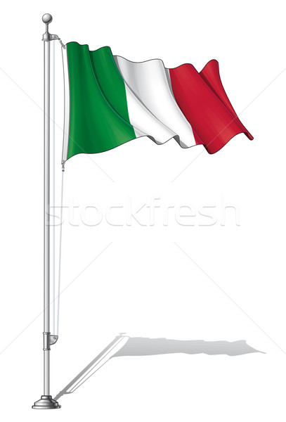 Flag Pole Italy Stock photo © nazlisart