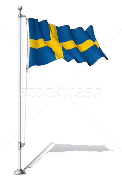 Flag Pole Sweden Stock photo © nazlisart