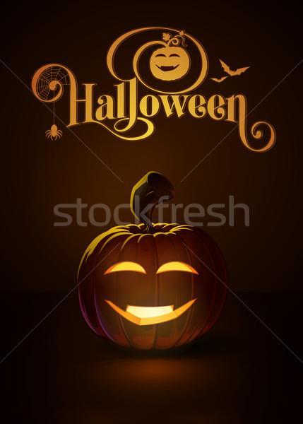 Jack-o-Lantern Dark Happy Vimpire Stock photo © nazlisart