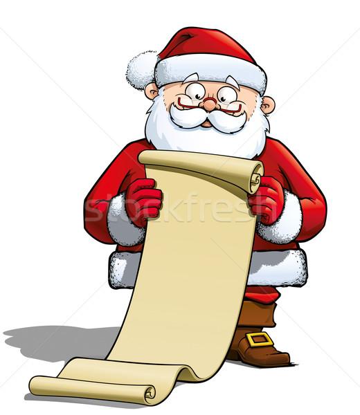 Santa Holding a Gift List Stock photo © nazlisart