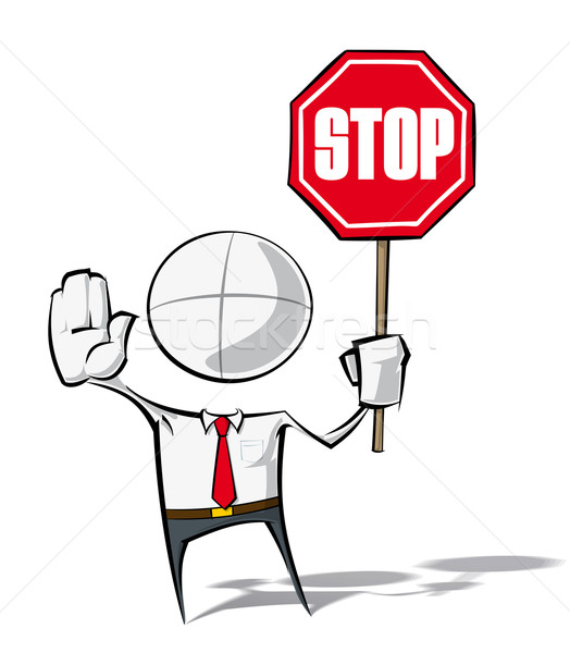 Stock photo: Simple Business People - Stop