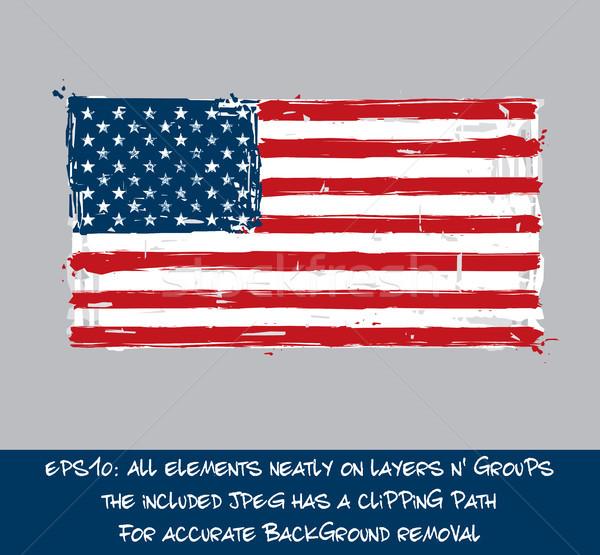 Bandiera americana artistico americano bandiera Foto d'archivio © nazlisart