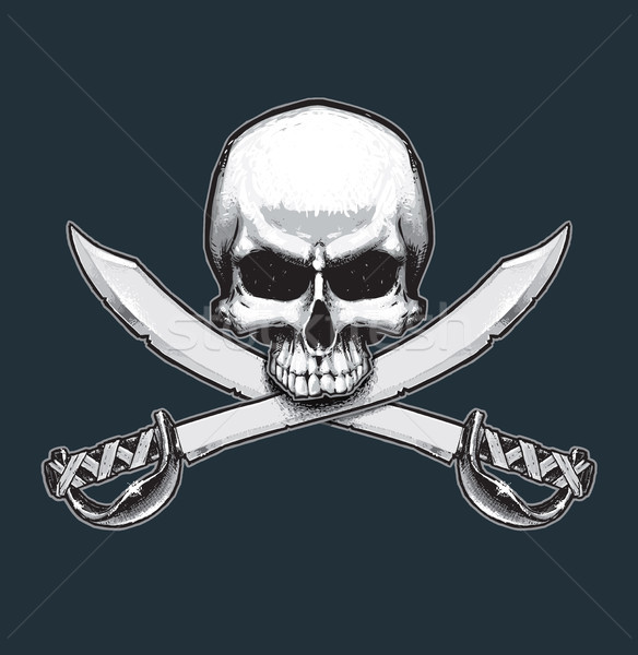 Pirates Jawless Skull and Swords Stock photo © nazlisart
