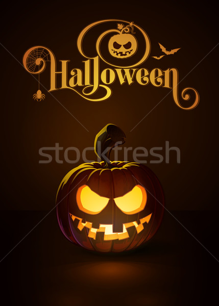 Jack-o-Lantern Dark Toothy Smile Stock photo © nazlisart
