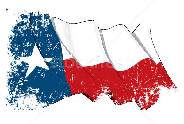 Texas Waving Flag Grunge