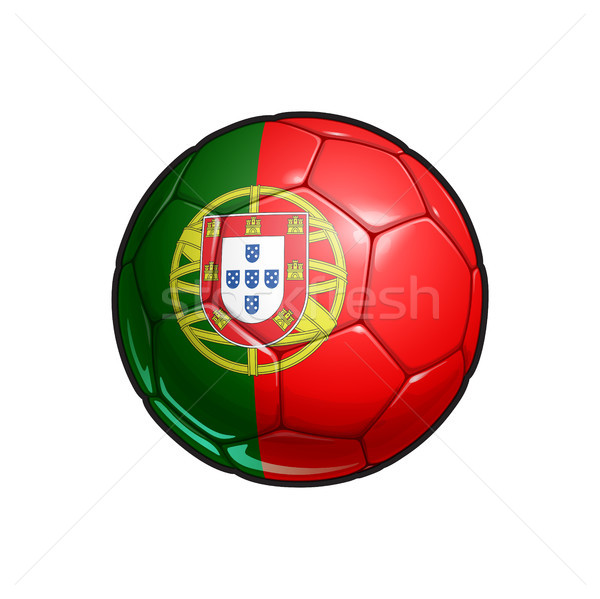 Portuguese Flag Football - Soccer Ball Stock photo © nazlisart