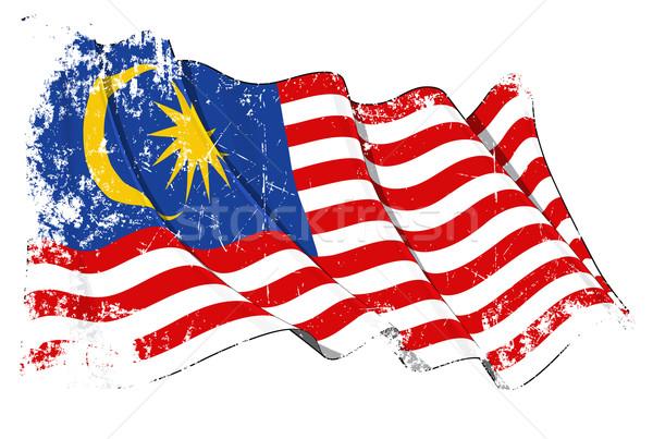 Grunge Flag of Malaysia Stock photo © nazlisart