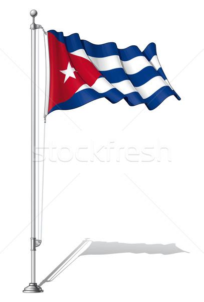 Flag Pole Cuba Stock photo © nazlisart