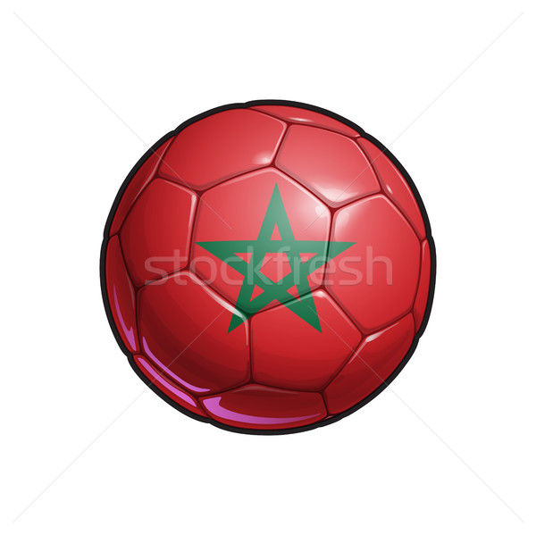 Moroccan Flag Football - Soccer Ball Stock photo © nazlisart