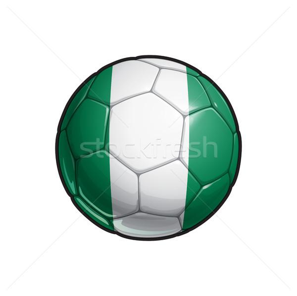 Nigerian Flag Football - Soccer Ball Stock photo © nazlisart