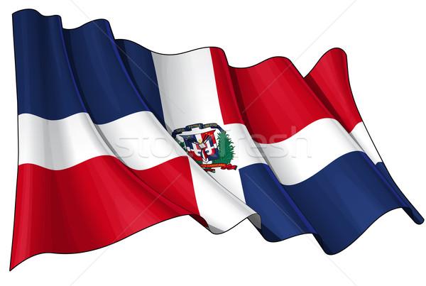 Dominican Republic Flag Stock photo © nazlisart