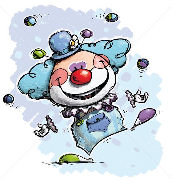 Clown Juggling - Boy Colors Stock photo © nazlisart