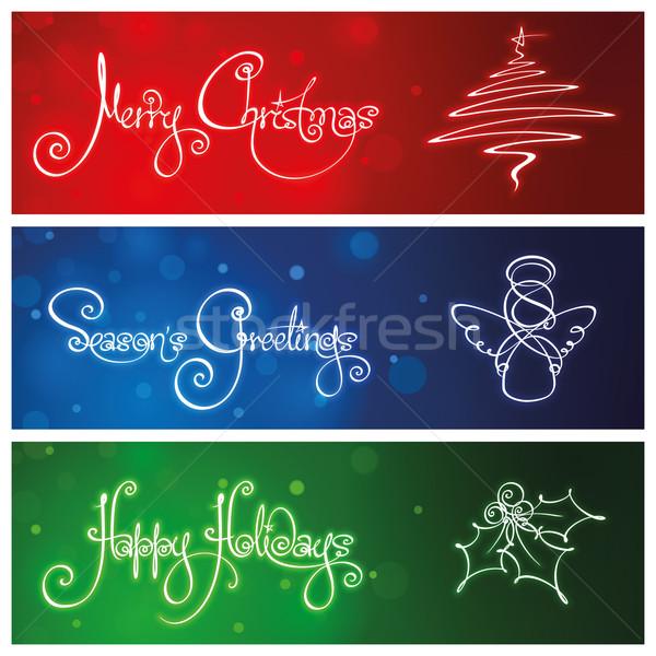 Three Christmas Banners Stock photo © nazlisart