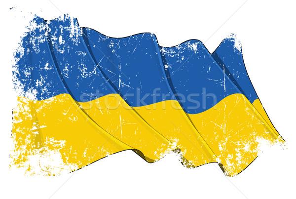 Grunge Flag of Ukraine Stock photo © nazlisart