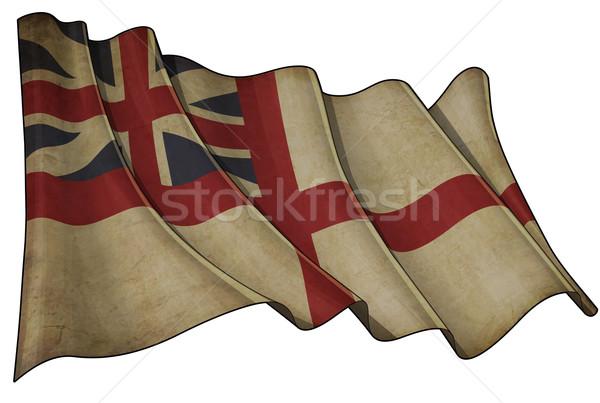 British Naval 1606–1801 (The King's Colours) Historic Flag Stock photo © nazlisart