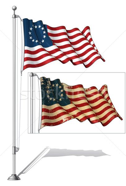 Flag Pole USA Betsy Ross Stock photo © nazlisart