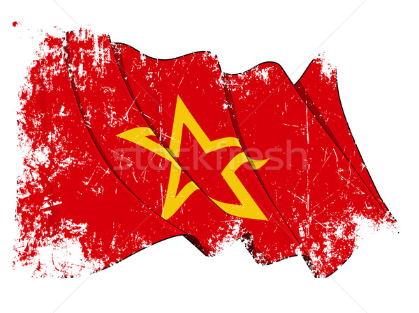 Red Army Flag Grunge Stock photo © nazlisart