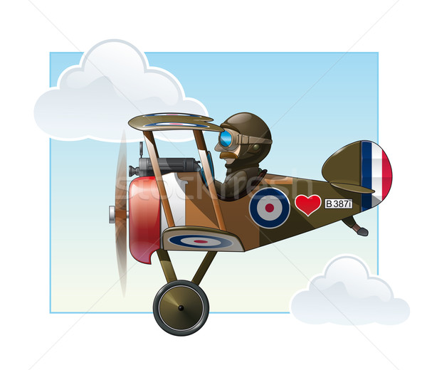 WW1 Aeroplane Toys - Vickers Stock photo © nazlisart