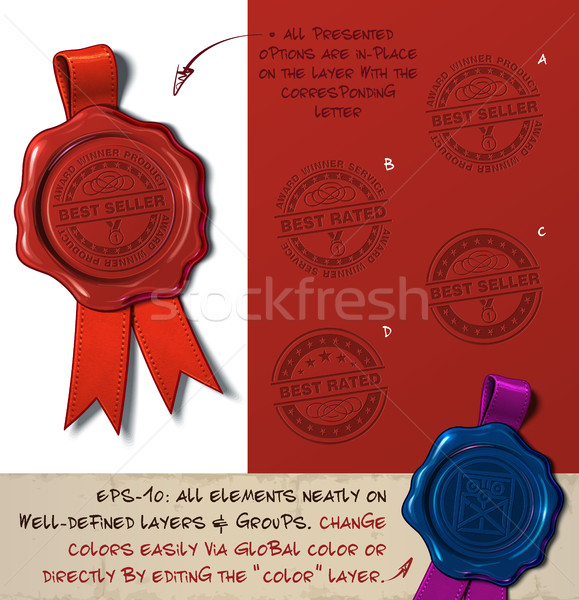 Wax Seal - Best Seller Rated Stock photo © nazlisart