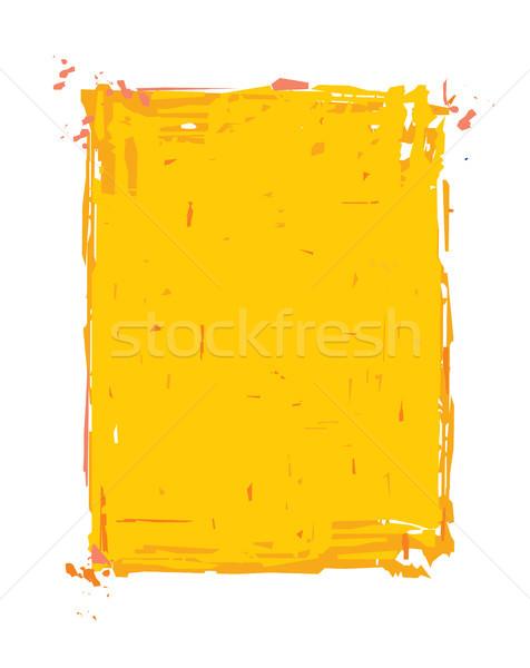 グランジ フレーム 黄色 孤立した 白 簡単 ストックフォト © nazlisart