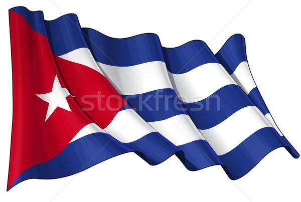 Flag of Cuba Stock photo © nazlisart