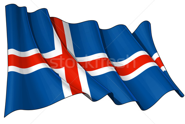 Flag of Iceland Stock photo © nazlisart