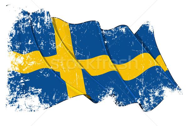 Grunge Flag of Sweden Stock photo © nazlisart