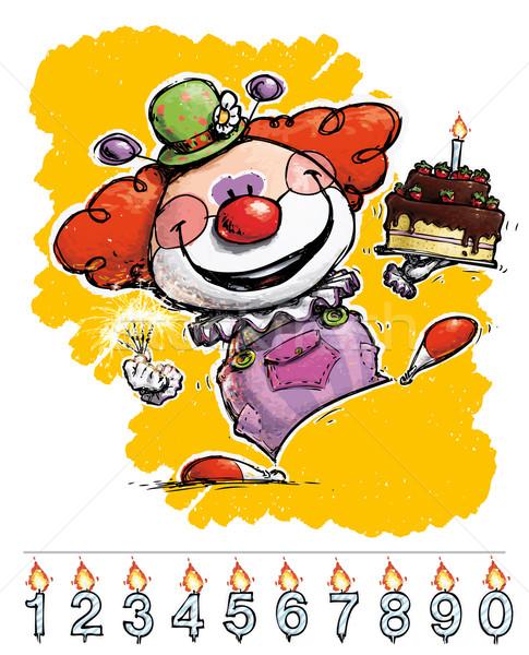 клоуна именинный торт иллюстрация eps10 20 Сток-фото © nazlisart