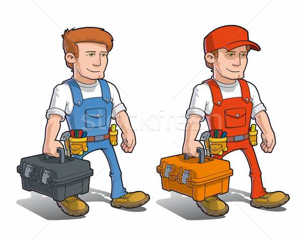 Handyman - Carying Toolkit Stock photo © nazlisart