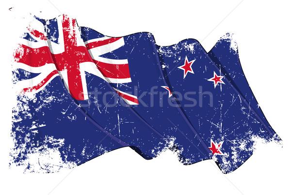 Bandeira Austrália grunge ilustração australiano Foto stock © nazlisart