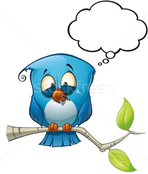 Blue Bird Emotional Stock photo © nazlisart