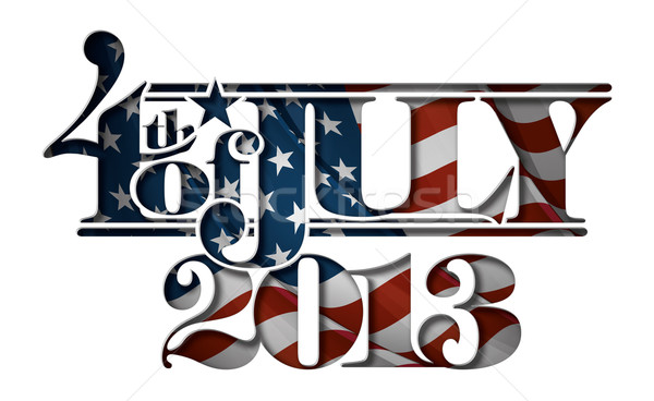 Forth of July 2013 Lettering Cut-Out Stock photo © nazlisart
