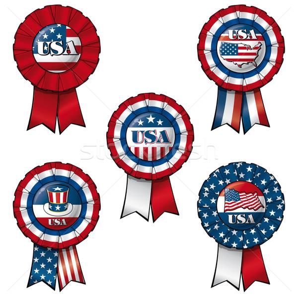 Ribbon USA Stock photo © nazlisart