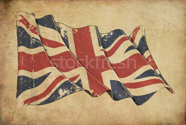 UK Grunge Flag Textured Background Wallpaper Stock photo © nazlisart