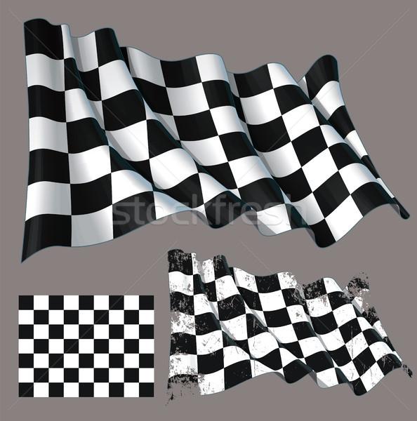 гонка закончить флаг Motor Сток-фото © nazlisart