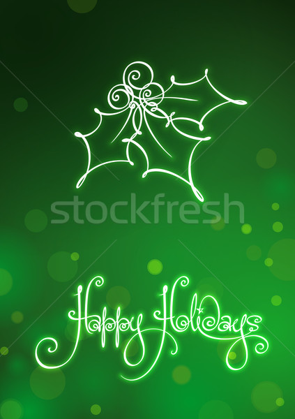 Boldog ünnepek kártya vám kézírás kézírás Stock fotó © nazlisart
