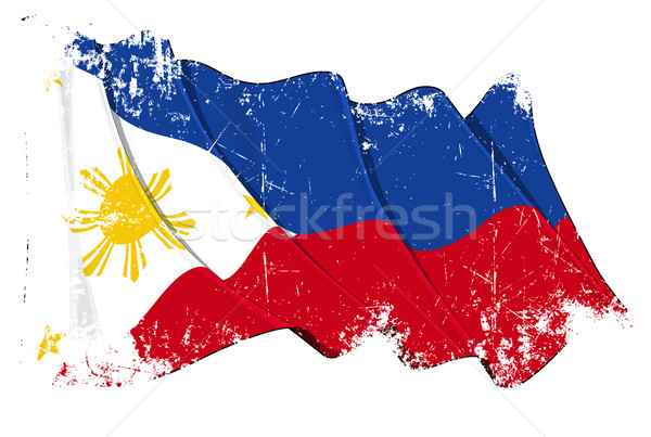 Flag of Philippines Stock photo © nazlisart