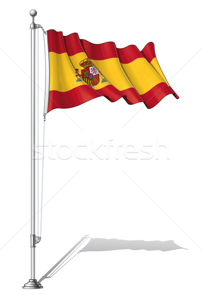 Flag Pole Spain Stock photo © nazlisart