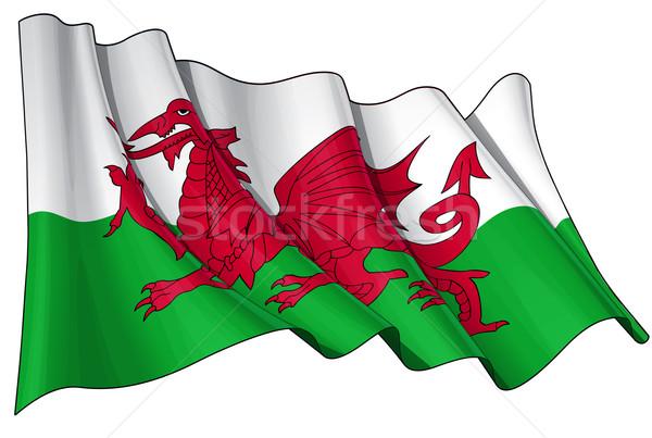 Flag of Wales Stock photo © nazlisart