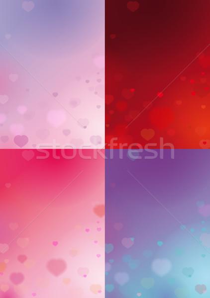 Four Valentines Backgrounds Stock photo © nazlisart