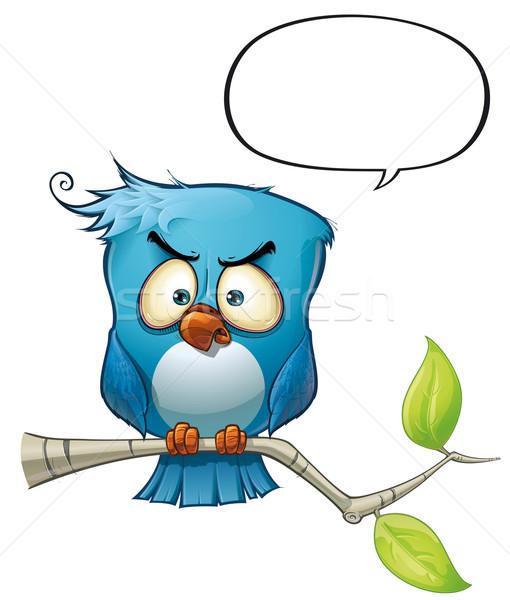 Kék madár ádáz stílus hozzászólások vélemények Stock fotó © nazlisart